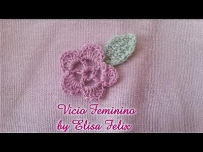 Flor de crochê para aplicação # Elisa Crochê