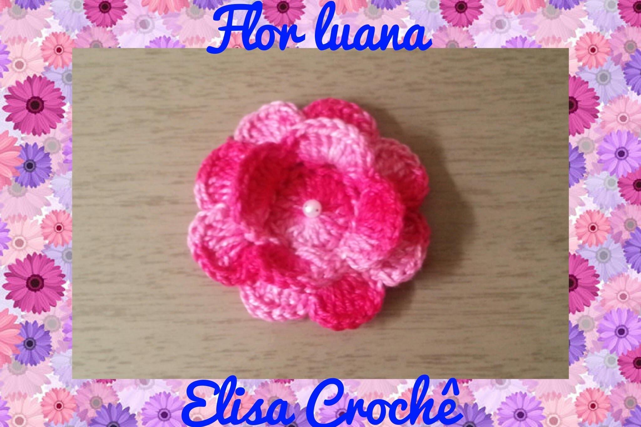 Flor luana em crochê # Elisa Crochê