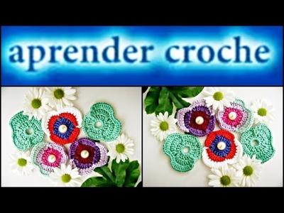 FLORES EM CROCHE FLOR AMOR PERFEITO MODELO TRES - 040