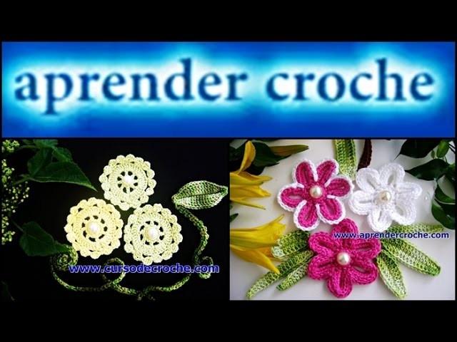 FLORES EM CROCHE PARA BROCHES MODELO UM - 019