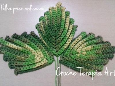 Folha de crochê para aplicação - por Croche Terapia Art