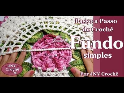Fundo de crochê para Capa do vaso por JNY Crochê