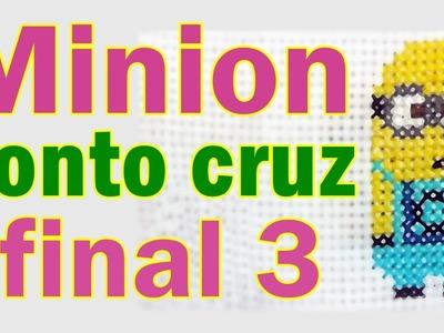 Meu malvado favorito Ponto Cruz - Passo a passo parte 3 Final