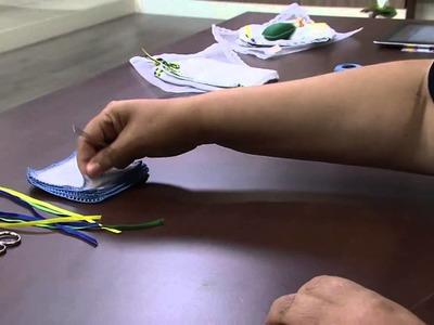 Mulher.com 28.03.2014 - Bico com Croche e fitas entreleçadas por Selma Cruz Parte 1