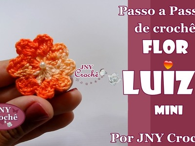 PAP de crochê Flor Luiza (mini) por JNY Crochê