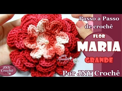 PAP de crochê Flor Maria (grande) por JNY Crochê