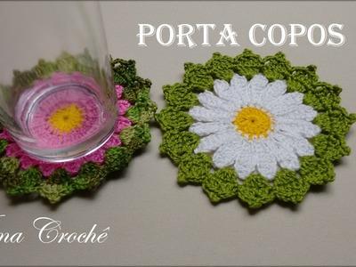Porta Copos de Crochê - Crochê Para Aplicação