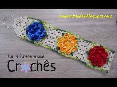 Porta Papel Higiênico com a Flor Camélia por Carine Strieder