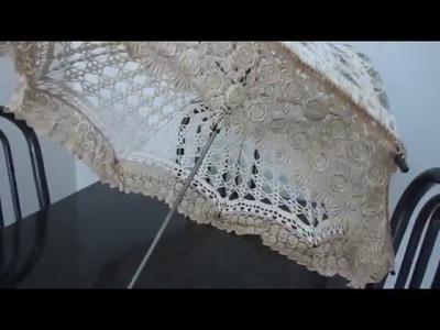 Sombrinha de Crochê