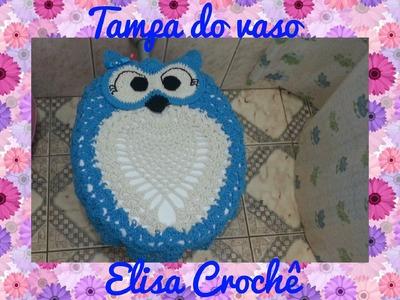 Tampa do vaso corujinha graciosa # Elisa Crochê