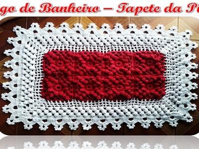 Tapete da Pia - Jogo de Banheiro em Crochê, com Ponto Pipoca