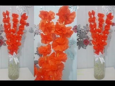 Aula 24 - Como fazer arranjos de flores de papel de seda (Acabamento) - Artesanato