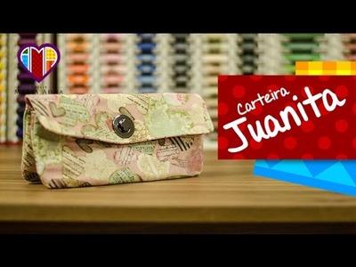 Bolsa carteira de tecido Juanita - Maria Adna Ateliê - Aulas e cursos de bolsas de tecido