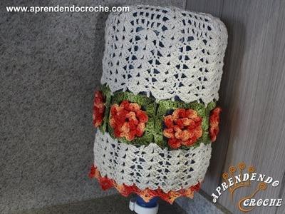 Capa de Crochê Barroco p. Galão de Água - 20 Litros