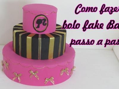 Como fazer bolo fake Barbie passo a passo
