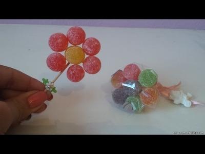Como fazer flor de Jujuba (bala de goma) - DIY - Faça você mesma