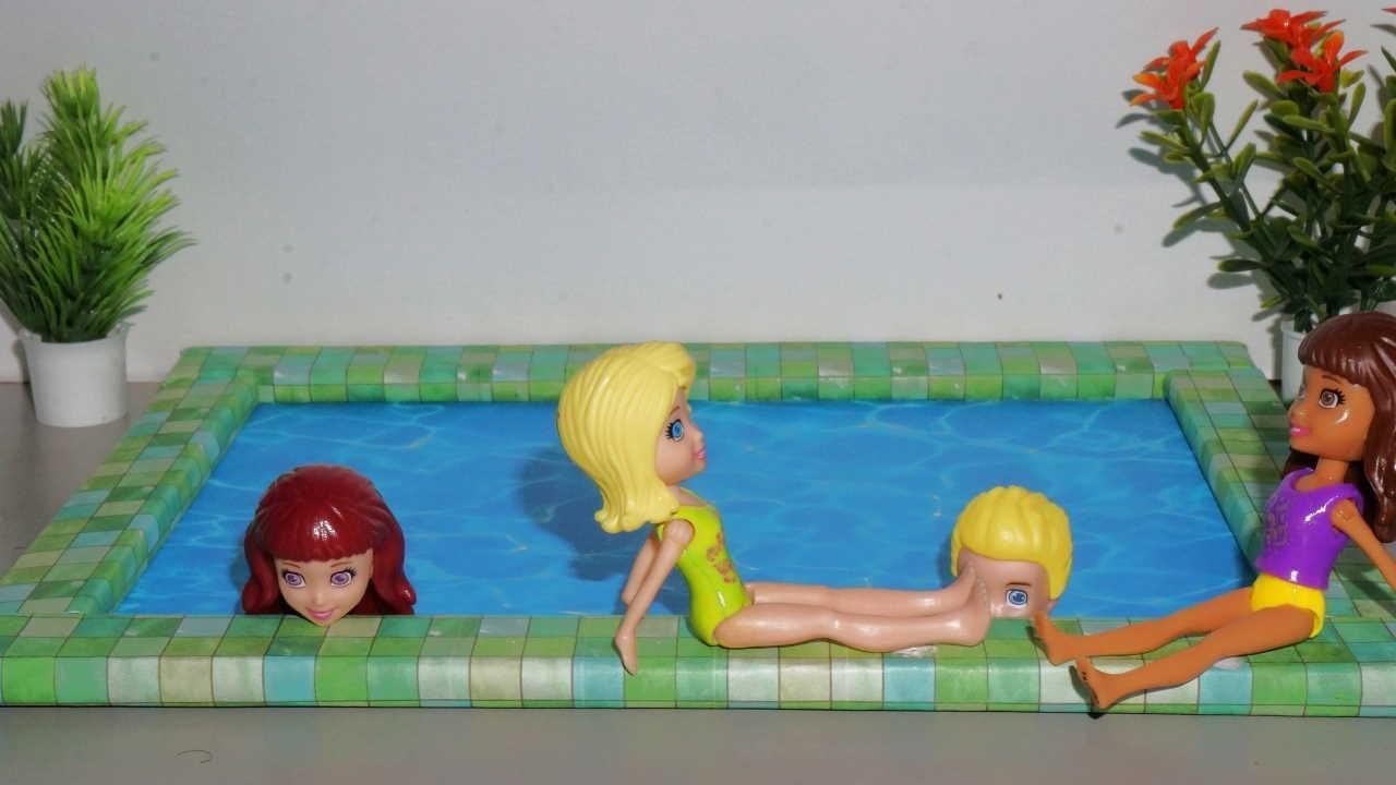 Como fazer piscina para casa de bonecas barbie e outras for A piscina da barbie