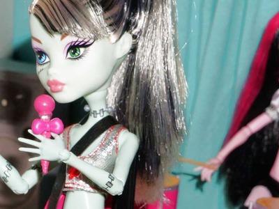 Como fazer um microfone com pedestal para boneca Monster High, Barbie, EAH, etc