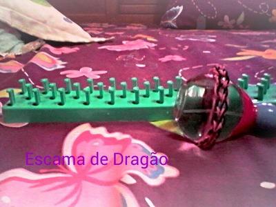 Como fazer  uma Pulseira Rainbow Loom método Escama de dragão.