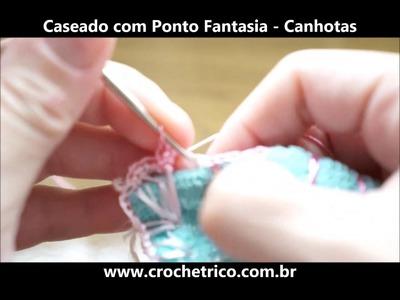 Crochê para Canhotas - Caseado com Ponto Fantasia