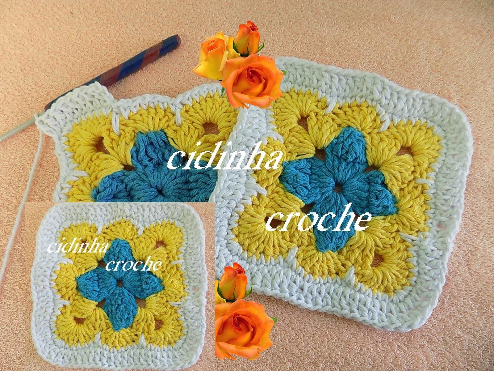 Croche- Quadradinho Criativo- Passo A Passo -Tutorial Completo