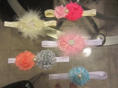 DIY Headband de flor para bebê Super Fácil