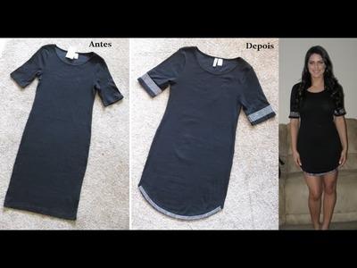 DIY Vestido customizado by Customização & Cia