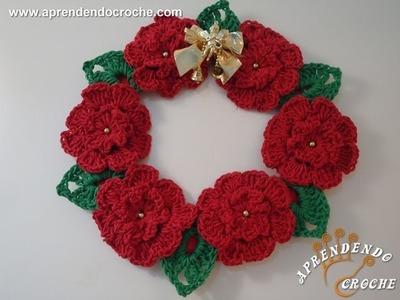 Guirlanda de Crochê Natal Floral
