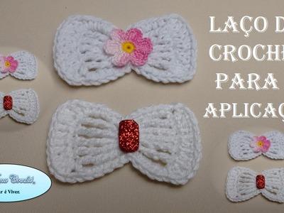 Laço de Crochê Para Aplicação - Versão Resumida