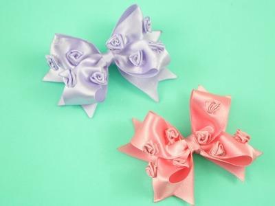 Passo a passo: Laço boutique com rosas de fita