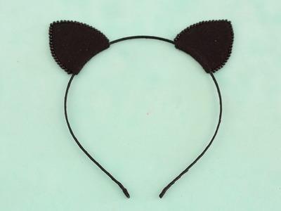 Passo a passo: Tiara com orelha de gatinho