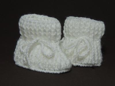 Sapatinho de crochê - Sapatinho de bebê Tradicional - Parte 1.3