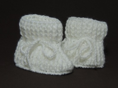 Sapatinho de crochê - Sapatinho de bebê Tradicional - Parte 2.3 (Canhotas)