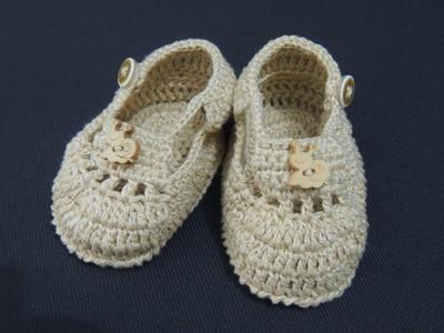 Sapatinhos de crochê - Sapatinho de crochê para menino - Parte 3