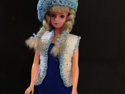 Blue collection - Colete para a barbie de croche - LiiArt