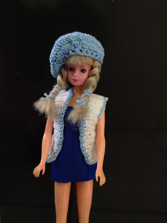 Blue collection - Colete para a barbie de croche - LiiArt