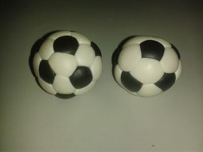 Bola de Futebol em pasta de açúcar | How to make a football in fondant
