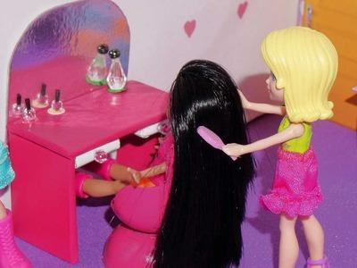 Como fazer penteadeira para mini boneca (Polly, Princesas, Lalaloopsy, etc)