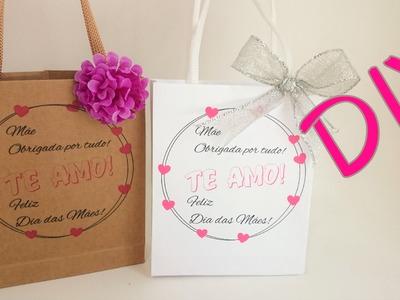 DIY Embalagens lindas para o dia das Mães