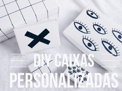 DIY. Caixa Personalizada (Presente. Decoração)