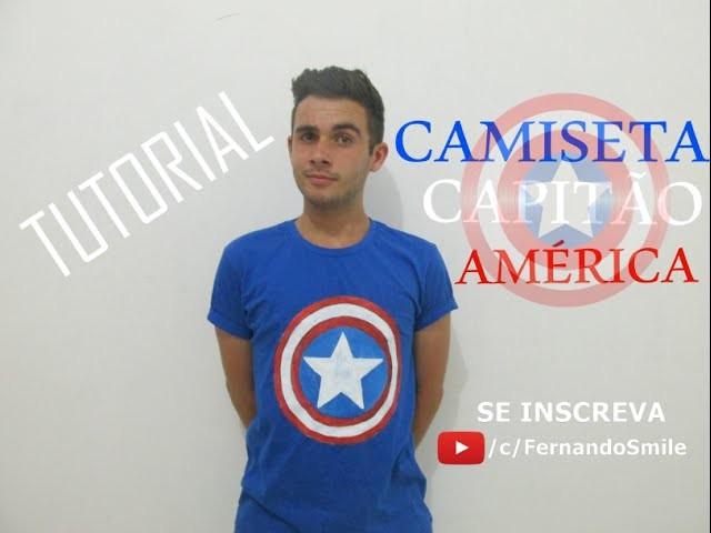 Fernando Smile - COMO FAZER CAMISETA CAPITÃO AMÉRICA | DIY