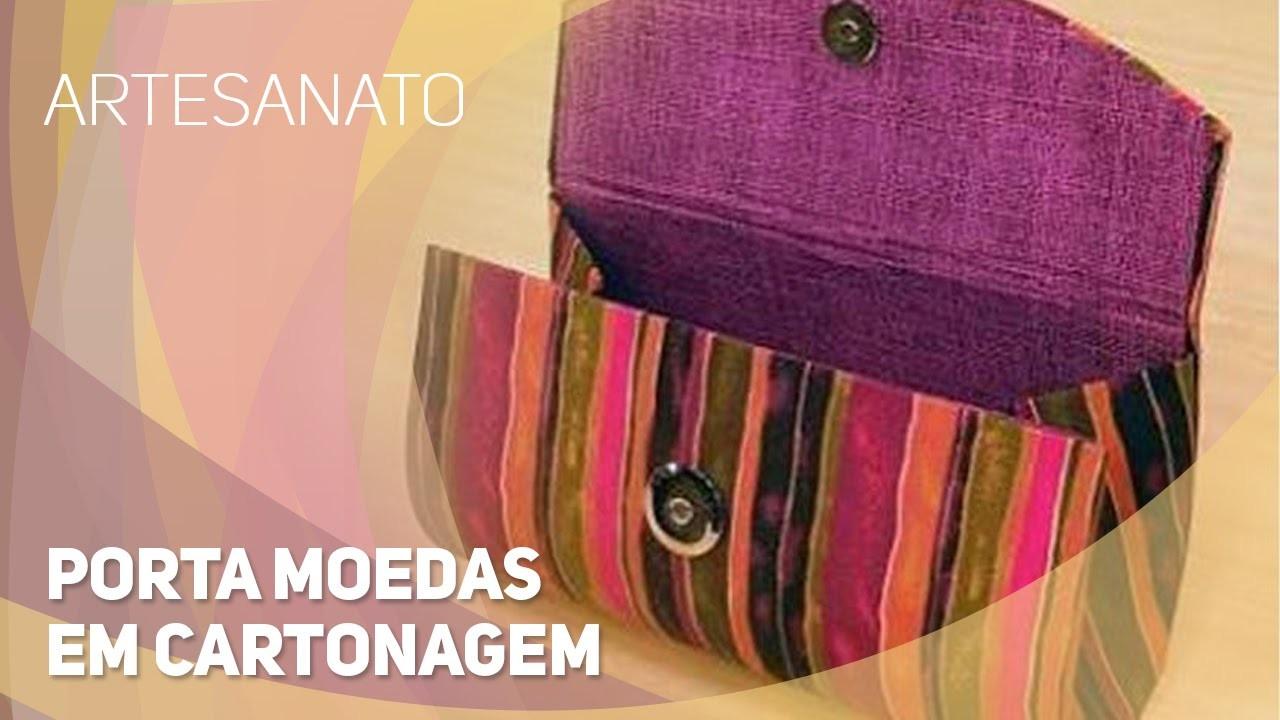 Artesanato - Porta moedas em cartonagem (08.09.2015)