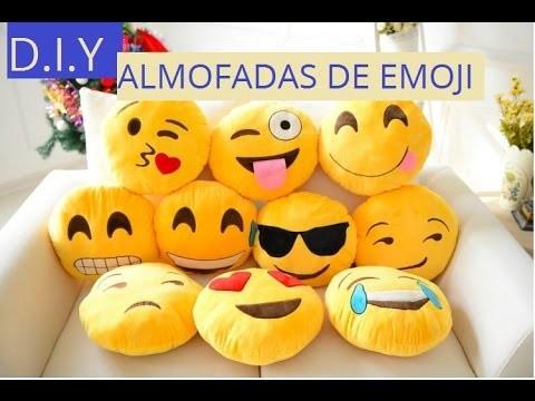 D.I.Y. Como fazer almofada de Emoji do Whatsapp faça você mesmo