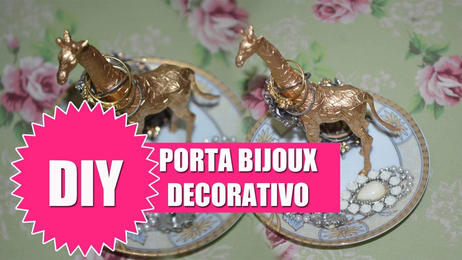 DIY - Porta Bijoux Decorativo - Faça Você Mesma
