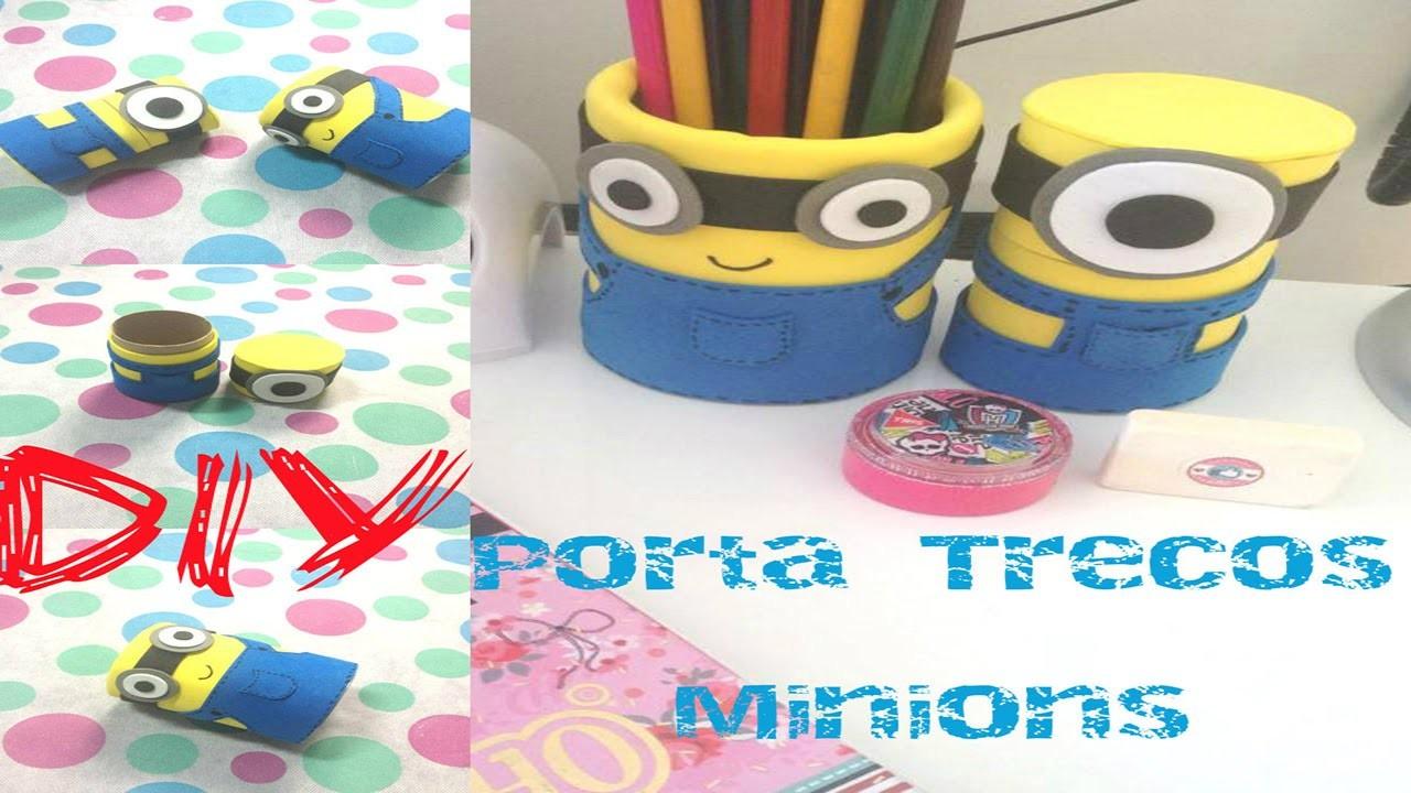 DIY - Porta Trecos Minions | Feito com materiais recicláveis.