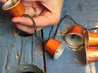 TUTORIAL luzinhas com cápsulas de café