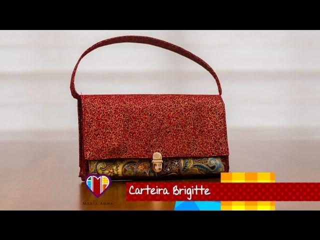 Bolsa carteira de tecido Brigitte - Maria Adna Ateliê - Cursos e aulas de bolsas de tecido