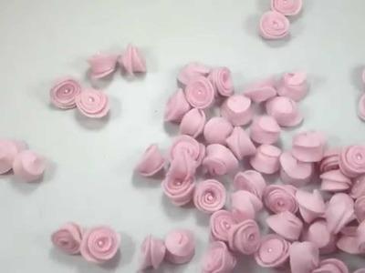 Como fazer Florzinhas em feltro usando Gabarito - Felt Flower Tutorial .