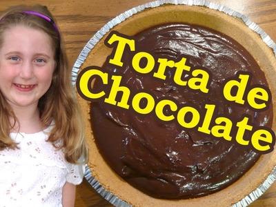 Vamos fazer torta de chocolate com a Vicky - Chocolate Pie Easy to make - sobremesa de chocolate