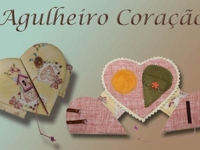 AGULHEIRO CORAÇÃO EM CARTONAGEM